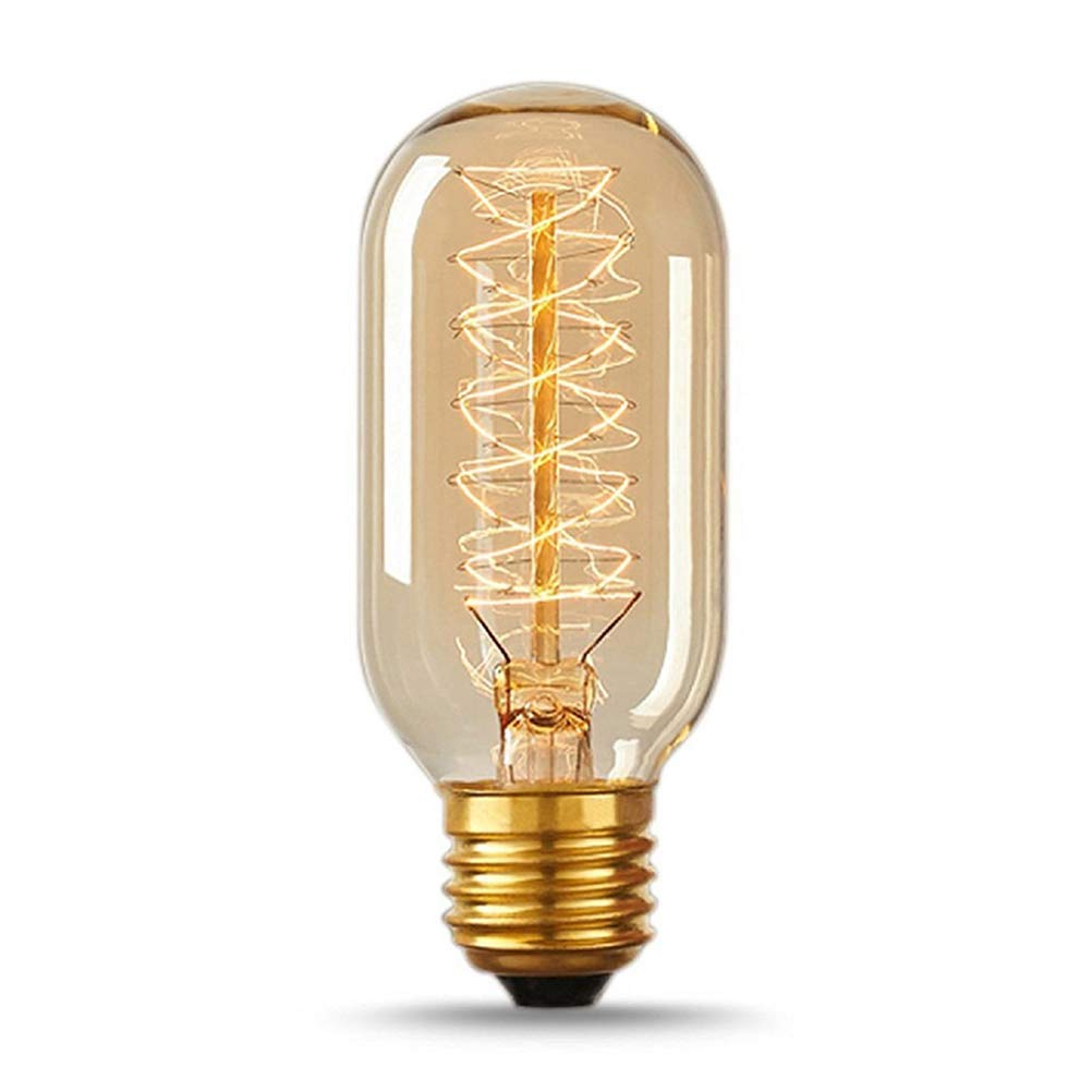Mobestech Antiquit/é E27 Edison ampoule 220 volts T45-40W transparent tube ampoule de verre ampoule d habitation lampe de type branche lampe de lustre