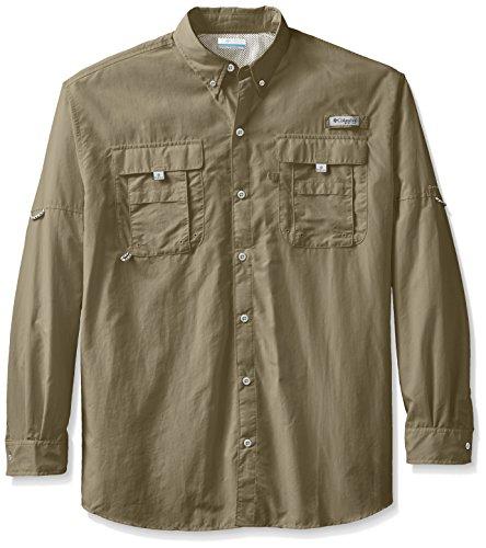 Columbia Men's Bahama II Long Sleeve Shirt, Sage, 2X Tall