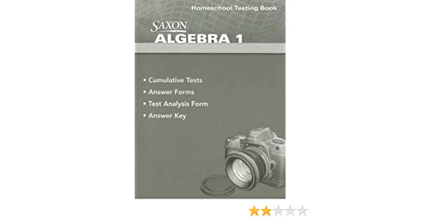 Saxon algebra 1 homeschool testing book stephen douglas hake saxon algebra 1 homeschool testing book stephen douglas hake 9780547625843 amazon books fandeluxe Choice Image