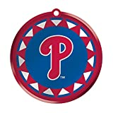 MLB Blown Glass Logo Disc Ornament MLB Team: Philadelphia Phillies
