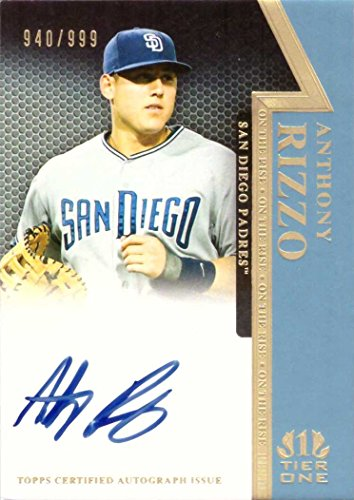 2011 Topps Tier One #OR-AR Anthony Rizzo Certified Autograph Baseball Card from Rookie Season - Only 999 made!
