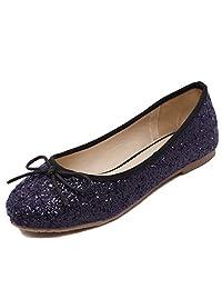 D2C Beauty Women's Bow Slip On Low Heel Ballet Flat Wedding Shoes