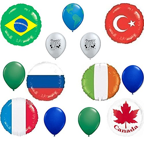 International Flags Balloon Bouquet by Anagram