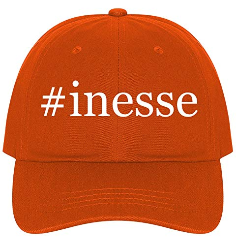 The Town Butler #Inesse - A Nice Comfortable Adjustable Hashtag Dad Hat Cap, Orange, One Size