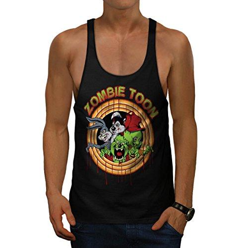 Zombie Toon Parody Fun Cartoon Men M Gym Tank Top | Wellcoda (Cartoon Tombstone)