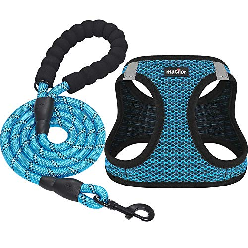 Matilor 2 Packs Dog Harness Step-in Breathable Puppy Cat Dog for Small Medium Dogs