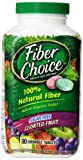 Fiber Choice Nutritional Prebiotic Supplement Sugar-Free Assorted Fruit Tablet 90 Count