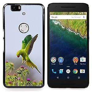 Eason Shop / Premium SLIM PC / Aliminium Casa Carcasa Funda Case Bandera Cover - Flores Naturaleza loro Primavera - For Huawei Google Nexus 6P