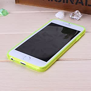 Wkae@ iPhone 6 Case Solid Color Soft TPU Frame Case Cover By Diebell (Yellow)