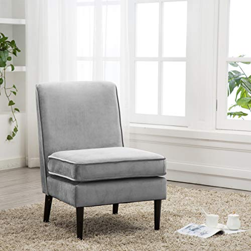 Cushioned Linen Armless Accent Chairs Sofa Couch Home Casual Living Room Chair ((ASH)