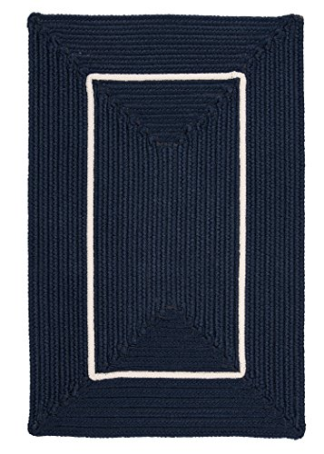 Colonial Mills Doodle Edge Rectangle Area Rugs, 2-Feet by 3-Feet, (Navy Border Rug)