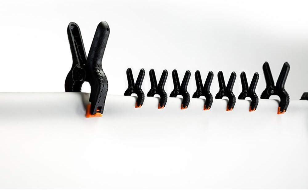 Abrazaderas de resorte de pl/ástico extra fuerte agarre r/ápido Clips