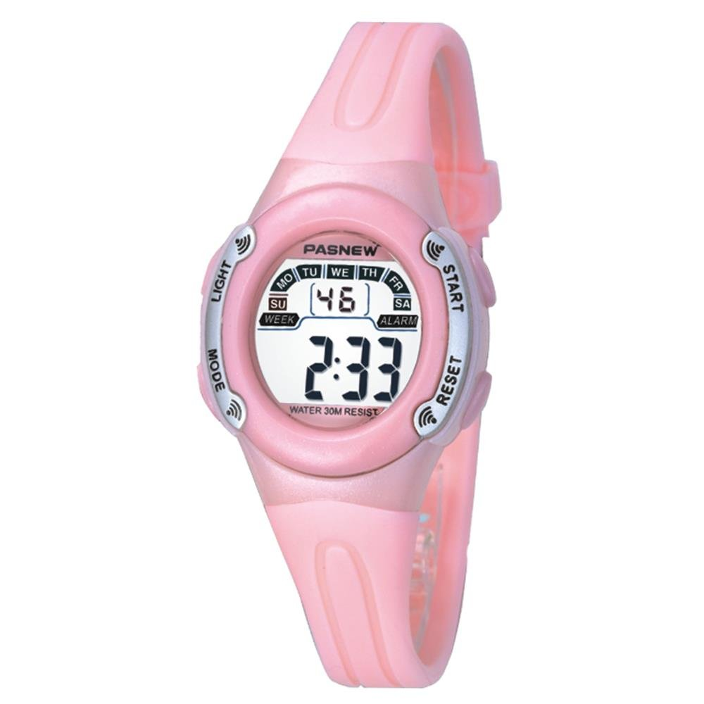 Casual Waterproof Children Girls Digital Sport Watches with Alarm, Chronograph, Date (Pink)