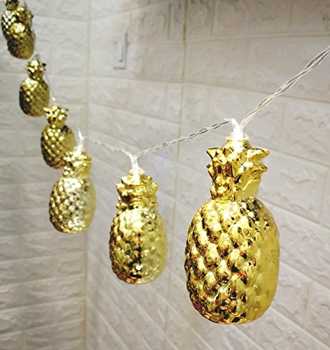 Gold Cracked Pineapple LED lantern String Lights Battery Powered 5Ft Novelty Bedroom Fairy Light ...