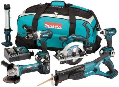 Makita DLX6000M 18V LXT Lithium-Ion 6 Piece Cordless Kit (3 x 4ah ...