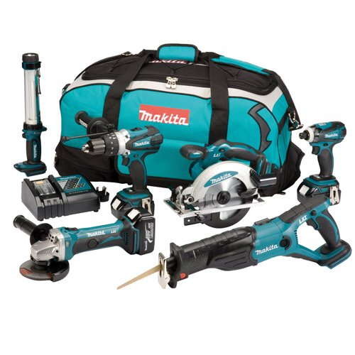 Makita DLX6000M 18 V Li-ion LXT Cordless Kit with 3 x 4 Ah Batteries and Carry Case, 6 pc.