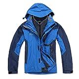 spirit hood coat - X-Mountain Spirit Men's 3in1 Water Resistant Breathable Warm Outwear Jacket Coat (Small, Blue)