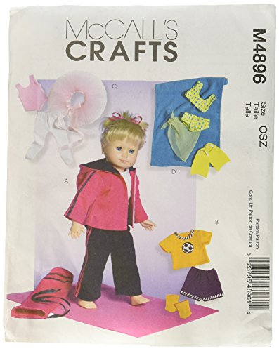 Mccall Pattern McCall's Patterns M4896 18-Inch Doll Cloth...