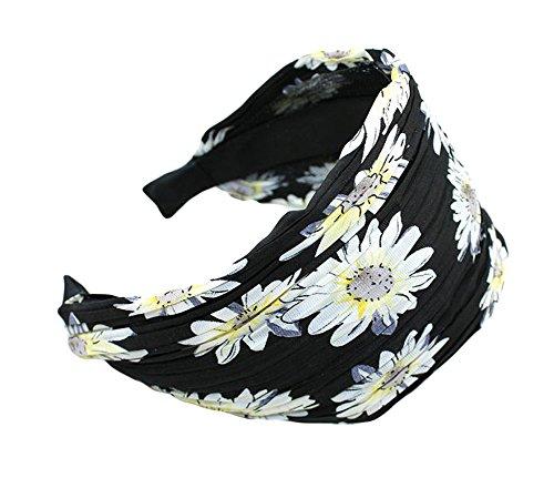 Qiabao Womens Polka Dots Pleat Wide Headband Hair Band (polka dots)