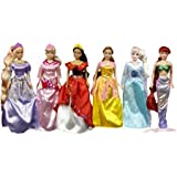 6 Pack Princess Collection Doll Gift Set