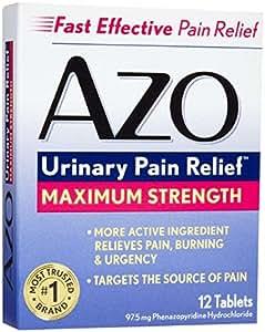 Urinary Pain Relief, Maximum Strength AZO 12 Tabs