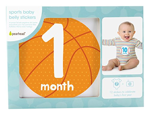 Pearhead Sports First Year Monthly Milestone Photo Sharing Baby Belly (Little Sports Birth Record)