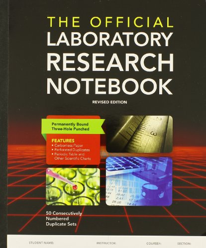 Official Lab.Research Notebook 50 Pages