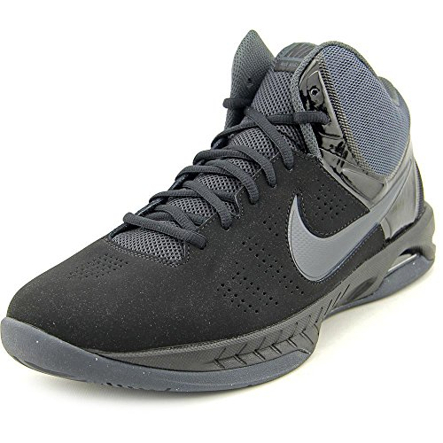 Nike Mens Air Visi Pro Vi Nbk Black/Anthracite Ankle-High Nubuck Basketball Shoe Nike