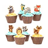 Woodland Creatures of the Forest Cupcake Wrappers and Picks