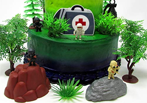 Battle Crusade Survival Royale Gaming Themed Cake Topper with Battle Figures and Resource Themed Accessories by Cake Toppers (Image #4)