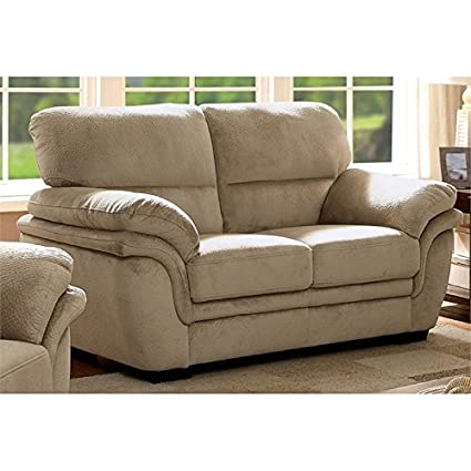 Amazon.com: Furniture of America Ariella Loveseat in Light ...