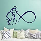 excellent anchor wall decals Anchor Infinity Wall Decal- Nautical Wall Decal Stickers- Nautical Bedroom Nursery Living Room Home Decor (Navy blue,s)