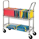 Lorell LLR84857 Wire Mail Cart