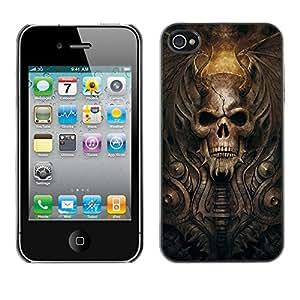 Design for Girls Plastic Cover Case FOR iPhone 4 / 4S Goth Demon Skull OBBA