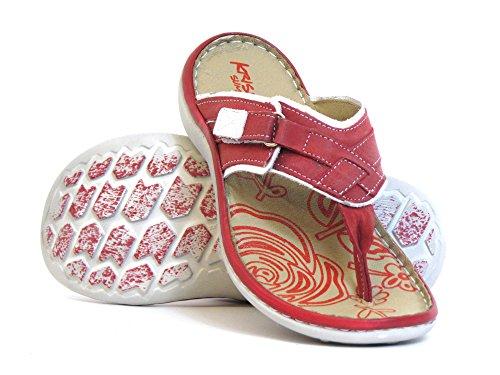 Mujeres Zapatos abiertos rojo, (rot-kombi) 2206-2 rot-kombi