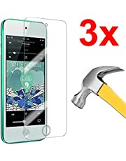[3-Pack] Tempered Glass Screen Protector for Apple iPod Touch 5 / iPod Touch 6 (Ultra Clear)
