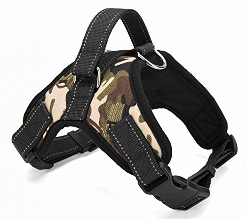 Camouflage XXL camouflage XXL TAIL UP Reflective Adjustable Dog Harness for Small Medium Large Dogs