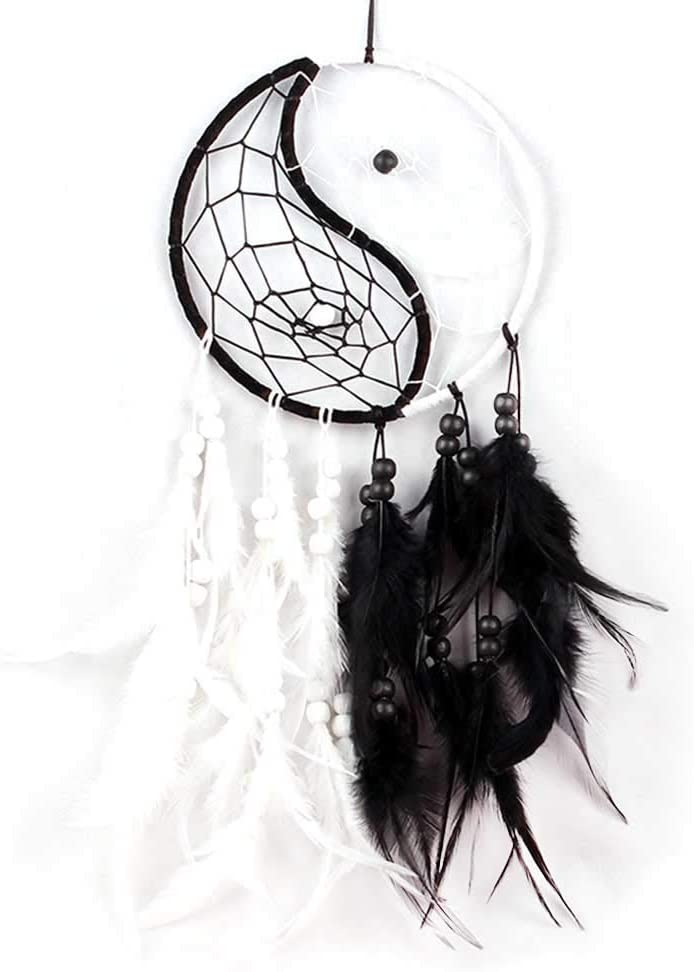 WESTONETEK Handmade Dream Catcher Traditional Dreamcatcher Feather for Bedroom Wall Hanging Home Decor Wedding Party Blessing Gift Decoration