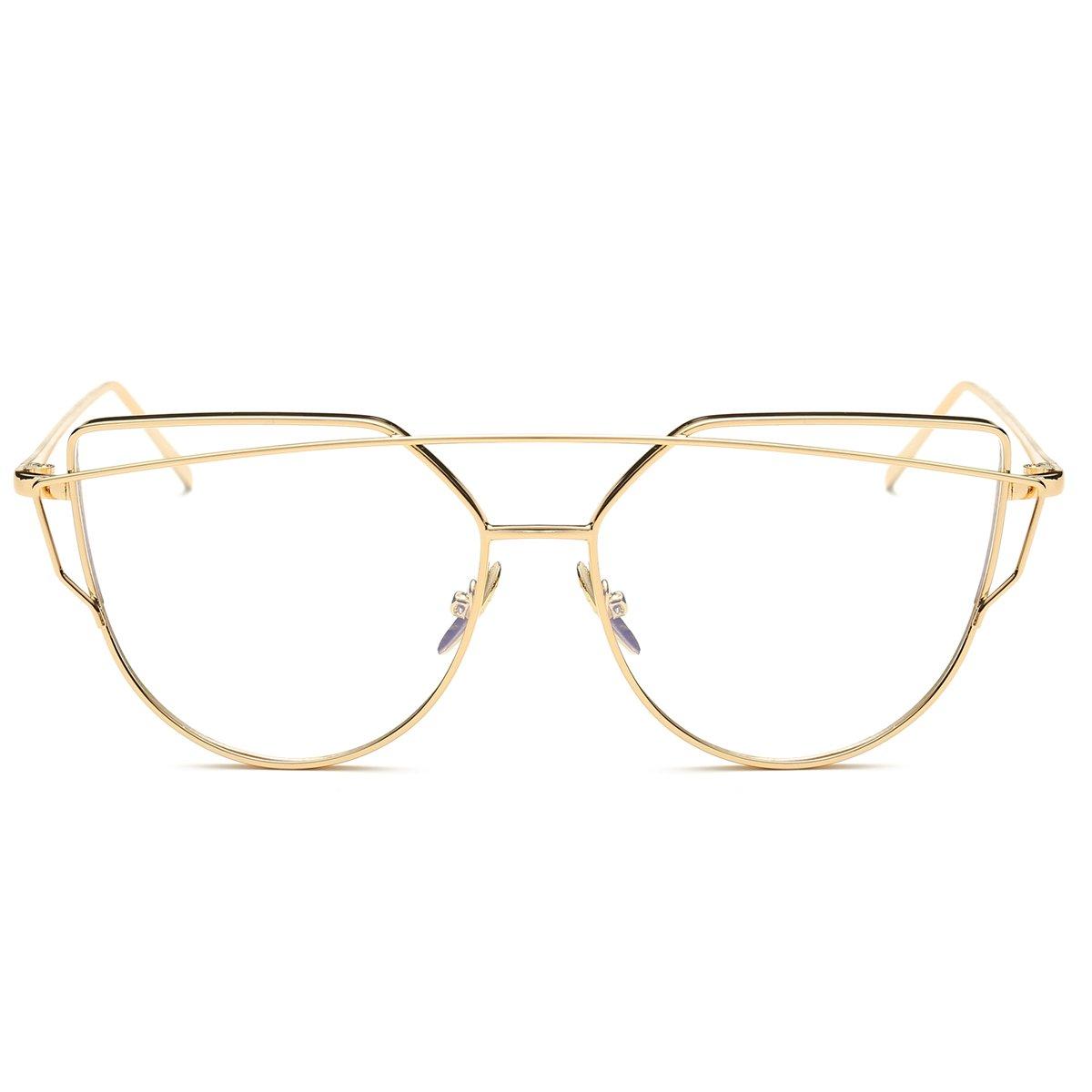 Pro Acme Fashion-Premium-Fensterglas-Katzenaugen-Brille, nicht ...