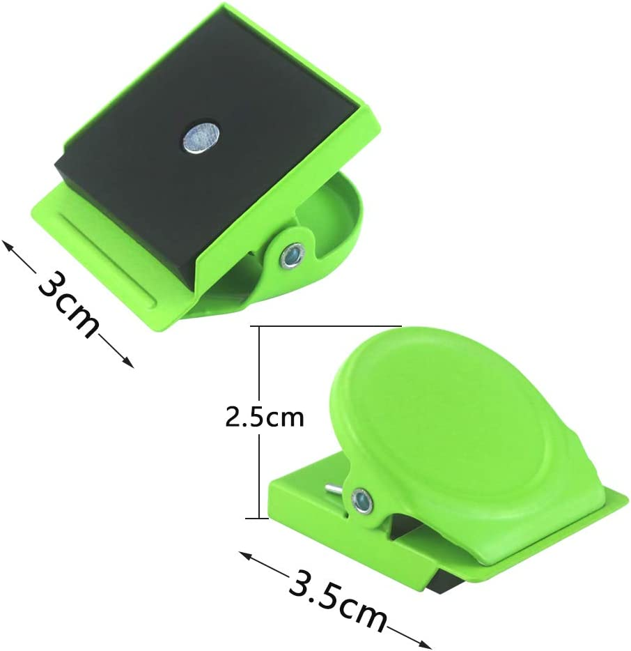 Kuqqi 8 Pcs 4 Colored Magnetic Memo Note Clips Wall Fridge Whiteboard Magnetic Metal Clip Office Paper Clips
