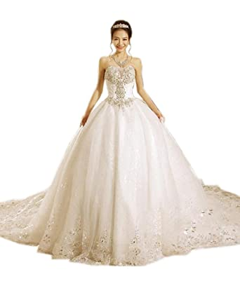 Olivia\'s Luxurious Crystal Plus Size Wedding Dresses Bridal Gown ...