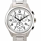 Timex Men's T2M470 T Series Chronograph Silver-Tone Stainless Steel Bracelet Watch, Watch Central