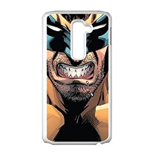 LG G2 Cell Phone Case White Wolverine C6U5PU
