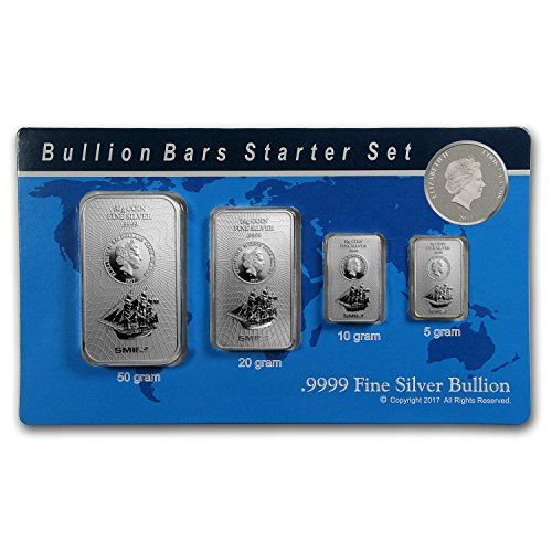 2017 85 gram Silver Cook Islands Bounty 4-Coin Bars Starter Set Brilliant Uncirculated