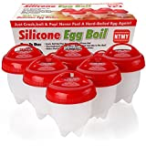 Egg Cooker ,NTMY Silicone Eggs Hard & Soft Maker, BPA Free, Non Stick Silicone As Seen On TV (6 Egg Cups)