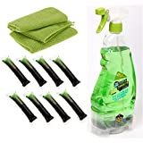 Green Gobbler Apple Melon ULTRA PACS - 8 Refills - All Purpose Degreaser & Cleaner, STREAK FREE + 2 Microfiber Cloths