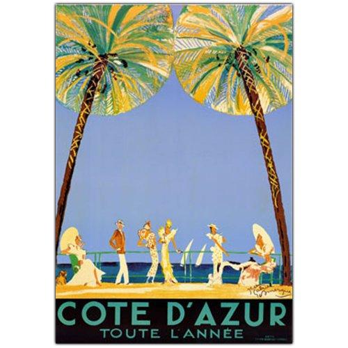 Cote D'Azur by Jean Dumergue, 18x24-Inch Canvas Wall Art