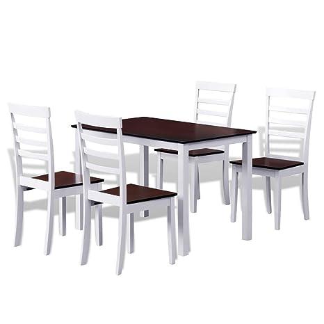 vidaXL Set Tavolo da Bar Cucina Sala da Pranzo e 4 sedie in Legno ...