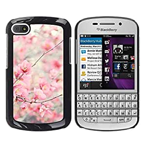 "Pulsar Snap-on Series Teléfono Carcasa Funda Case Caso para BlackBerry Q10 , Bloom flores de cerezo Manzano"""