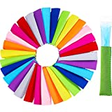 TecUnite 30 Pieces Ice Pop Insulator Sleeves Freezer Pop Holders Bags, 10 Colors